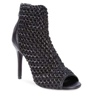 Charles David woven pattern heeled booties